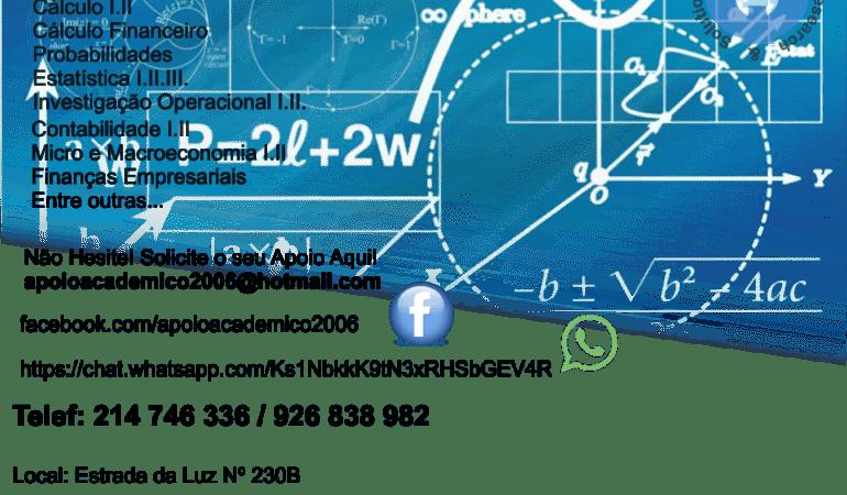 Explicações Matemática Cruz de Pau