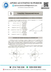 Explicações de Matemática Preços Secundário